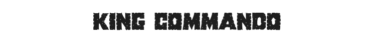 King Commando Font Preview