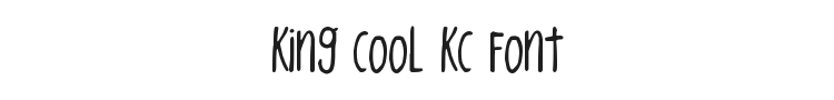 King CooL KC Font Preview