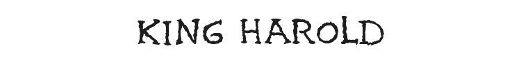 King Harold Font Preview