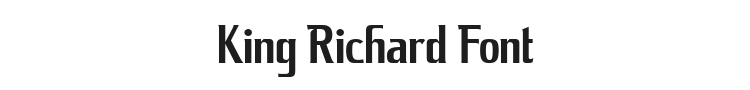 King Richard Font Preview