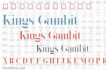 Kings Gambit Font