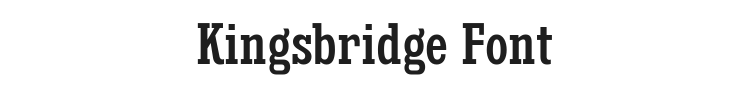 Kingsbridge Font Preview