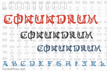 Kingthings Conundrum Font