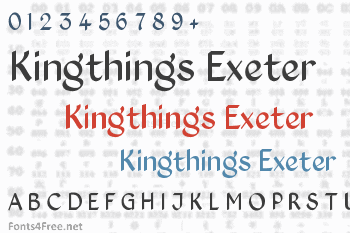 Kingthings Exeter Font