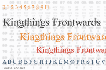 Kingthings Frontwards Font