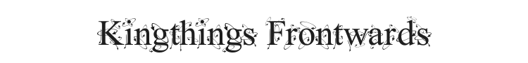 Kingthings Frontwards Font Preview