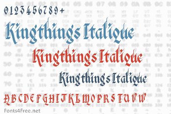 Kingthings Italique Font