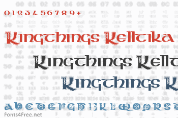 Kingthings Kelltika Font