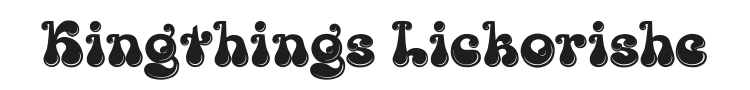Kingthings Lickorishe Font Preview