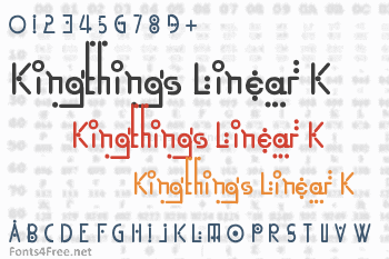 Kingthings Linear K Font