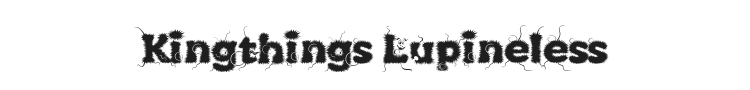 Kingthings Lupineless Font