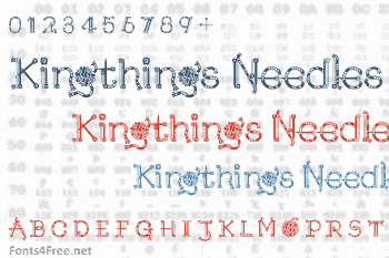 Kingthings Needles Font