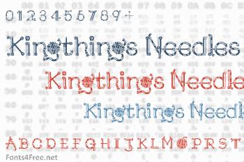 Kingthings Needles Font