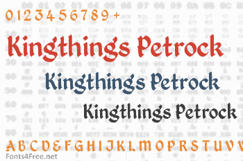 Kingthings Petrock Font