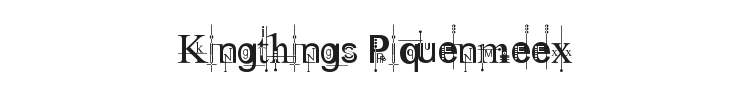 Kingthings Piquenmeex Font Preview