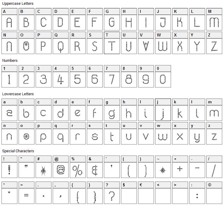 Kingthings Poppalok Font Character Map