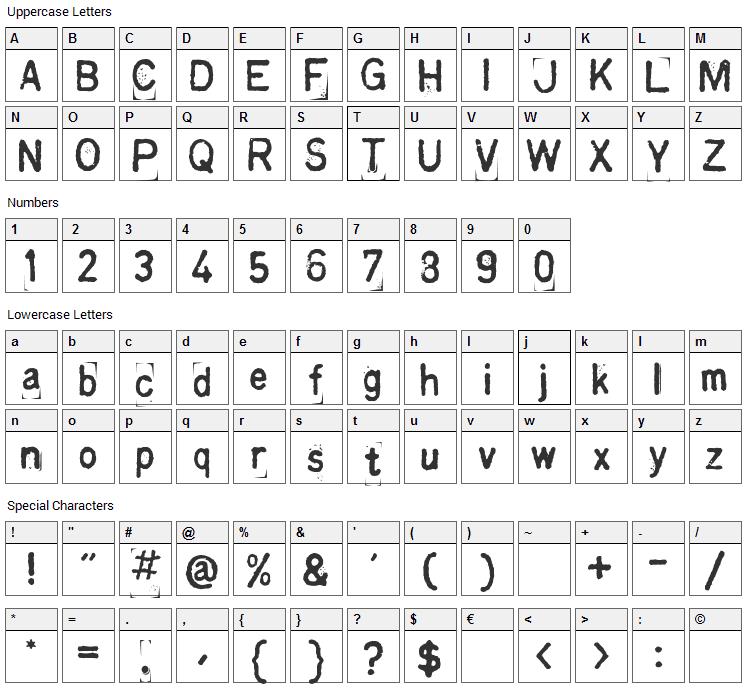 Kingthings Printingkit Font Character Map