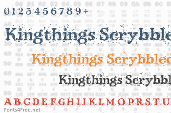 Kingthings Scrybbledot Font
