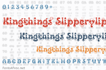 Kingthings Slipperylip Font