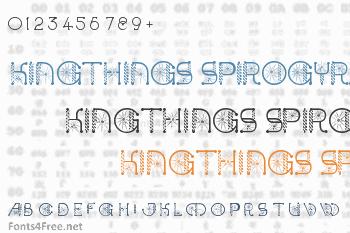 Kingthings Spirogyra Font