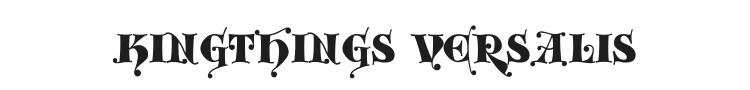 Kingthings Versalis Font Preview