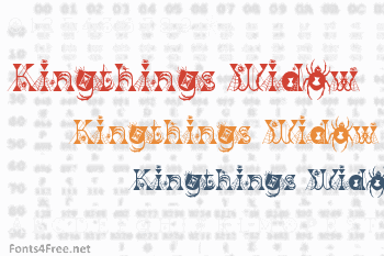 Kingthings Widow Font