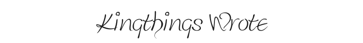 Kingthings Wrote Font Preview