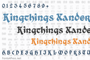 Kingthings Xander Font