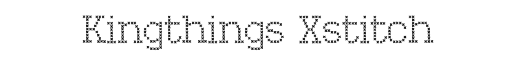 Kingthings Xstitch Font Preview