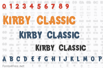 Kirby Classic Font