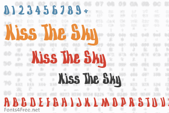 Kiss The Sky Font
