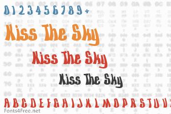 Kiss The Sky Font