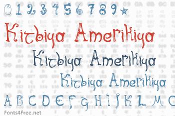 Kitbiya Amerikiya Font