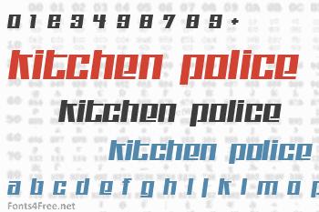 Kitchen Police Font