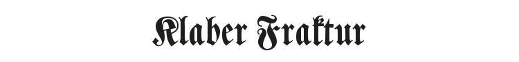 Klaber Fraktur Font Preview