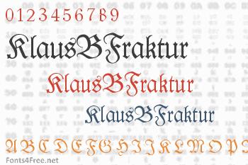 KlausBFraktur Font