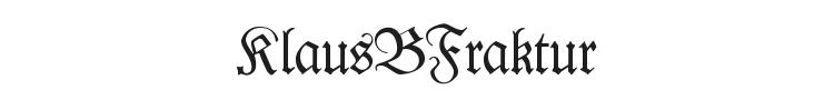 KlausBFraktur Font Preview