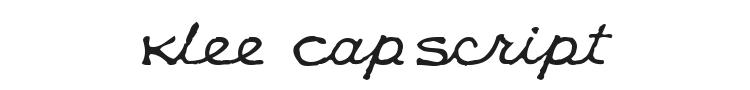 Klee CapScript Font