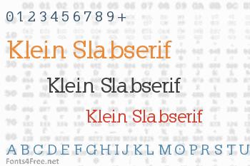 Klein Slabserif Font