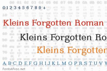 Kleins Forgotten Roman Font
