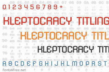 Kleptocracy Titling Font