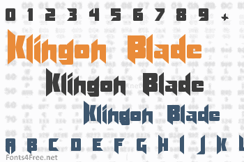 Klingon Blade Font