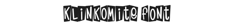 KlinkOMite Font Preview
