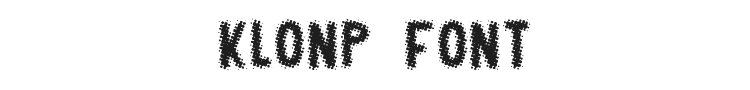 Klonp Font Preview