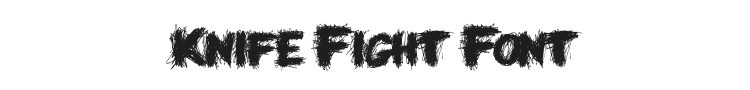 Knife Fight Font Preview