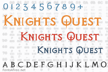 Knights Quest Font
