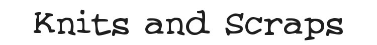 Knits and Scraps Font Preview
