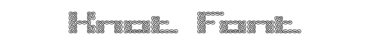 Knot Font Preview