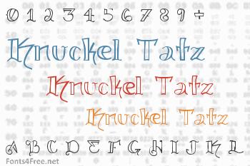 Knuckel Tatz Font