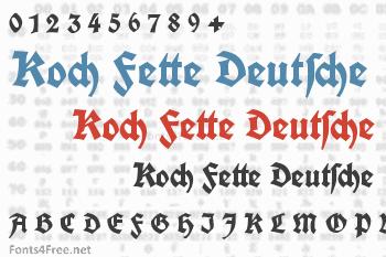 Koch Fette Deutsche Schrift Font